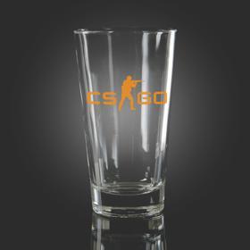 CS:GO Orange Pint Glass
