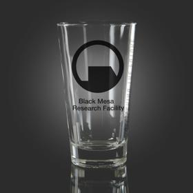 Black Logo - HL2 Black Mesa Pint Glass